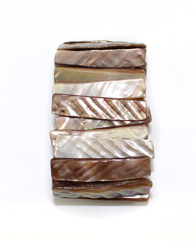 Brown Natural Sea Shell Stick Shape Bracelet - PitaPats.com