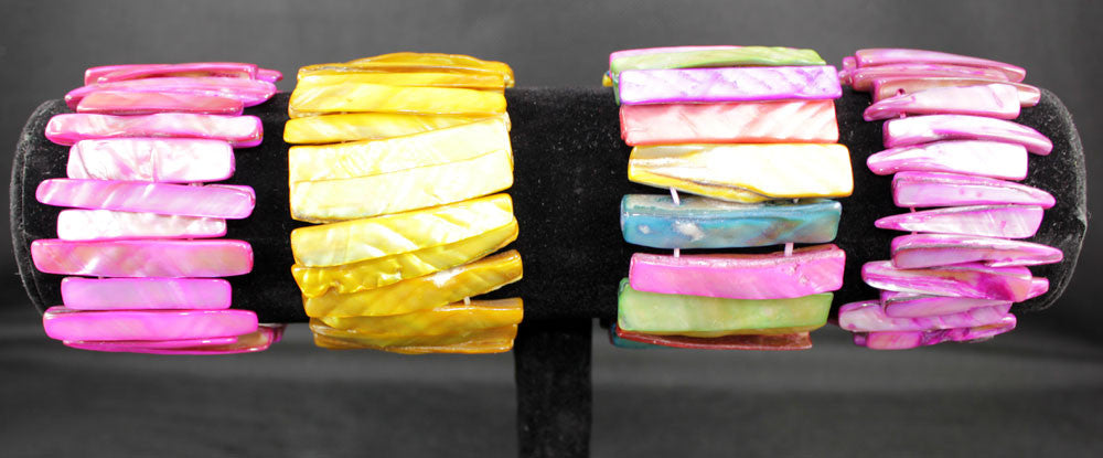 Multi Color Natural Sea Shell Stick Shape Bracelet - PitaPats.com