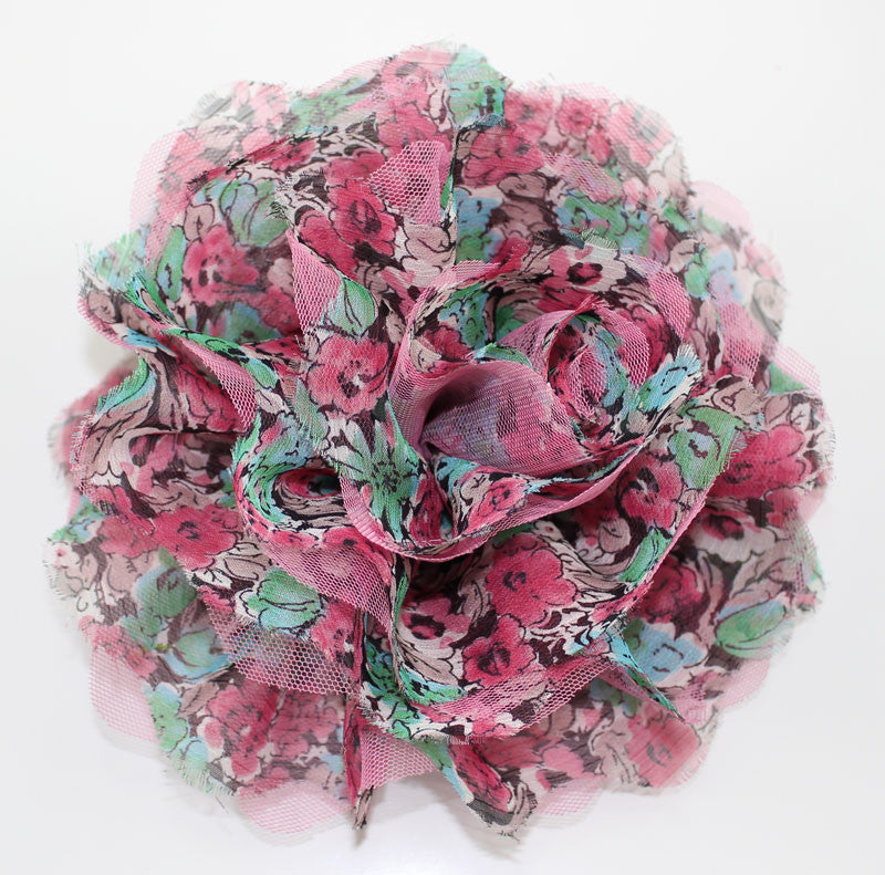 Pink Big Flower Cossage Headpiece - PitaPats.com