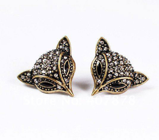 Bronze Fox Sparkling Earring - PitaPats.com