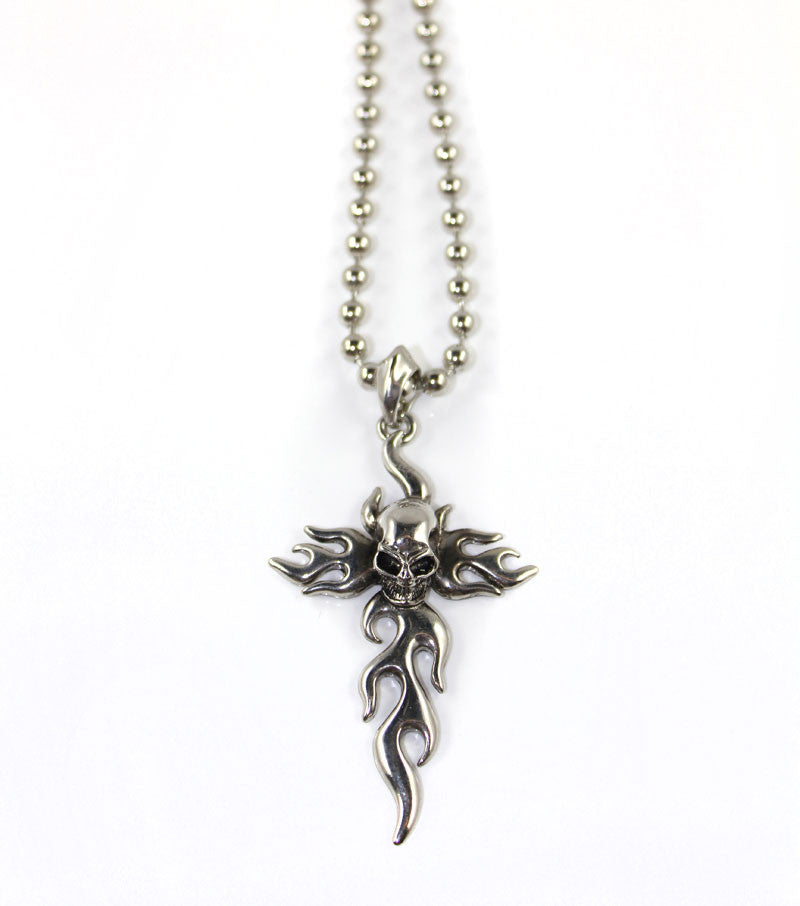 Skeleton Cross Necklace - PitaPats.com