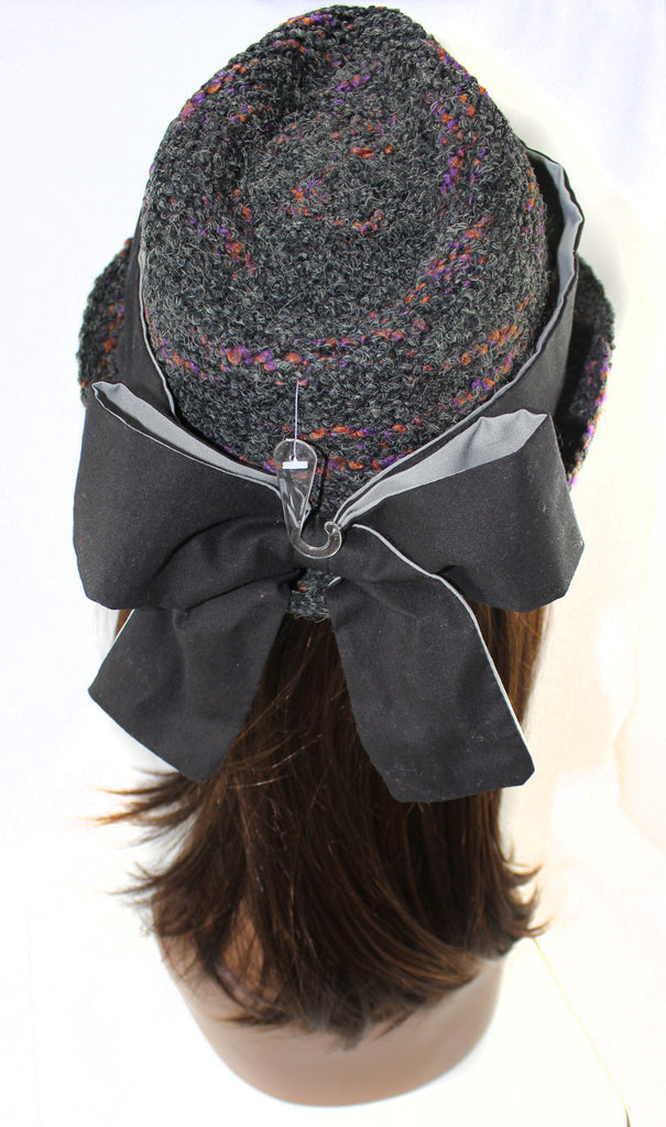 Wool Fedora Bow on the Back Hat - PitaPats.com
