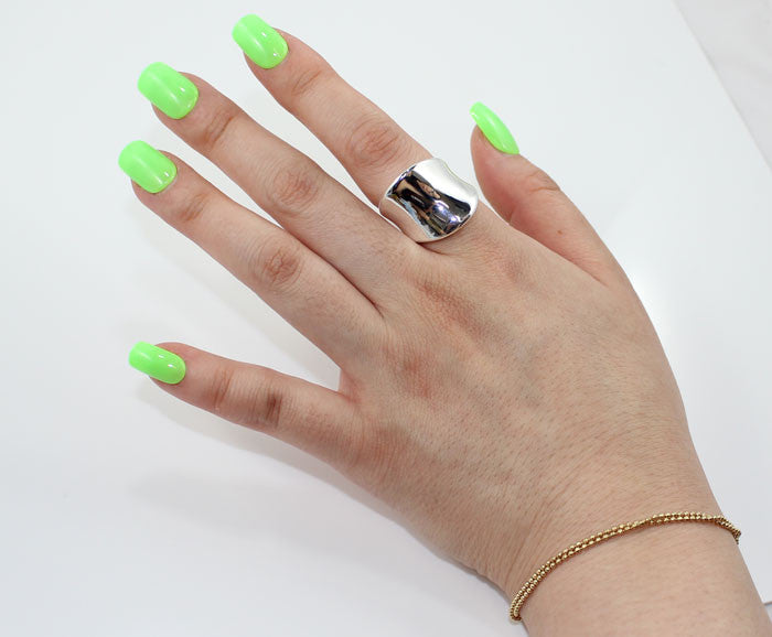 Sterling Silver Armor Cocktail Ring