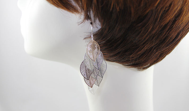 Sterling Silver Several Leaves Earring - PitaPats.com