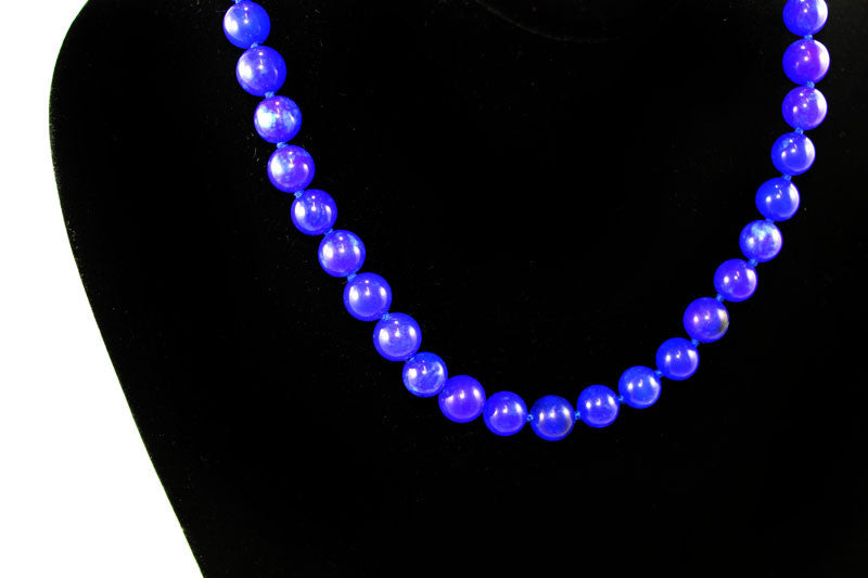 Semi Precious Gem Lapis Beads Necklace - PitaPats.com