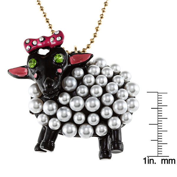 Betsey Johnson Necklace - Sheep Long Pendant Necklace - PitaPats.com