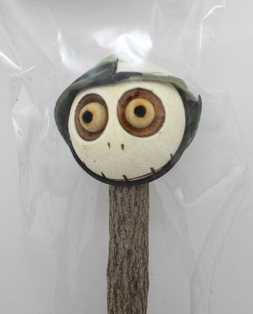 Crazy Head Topper Wooden Pencil with Crazy Doll - Soldier - PitaPats.com