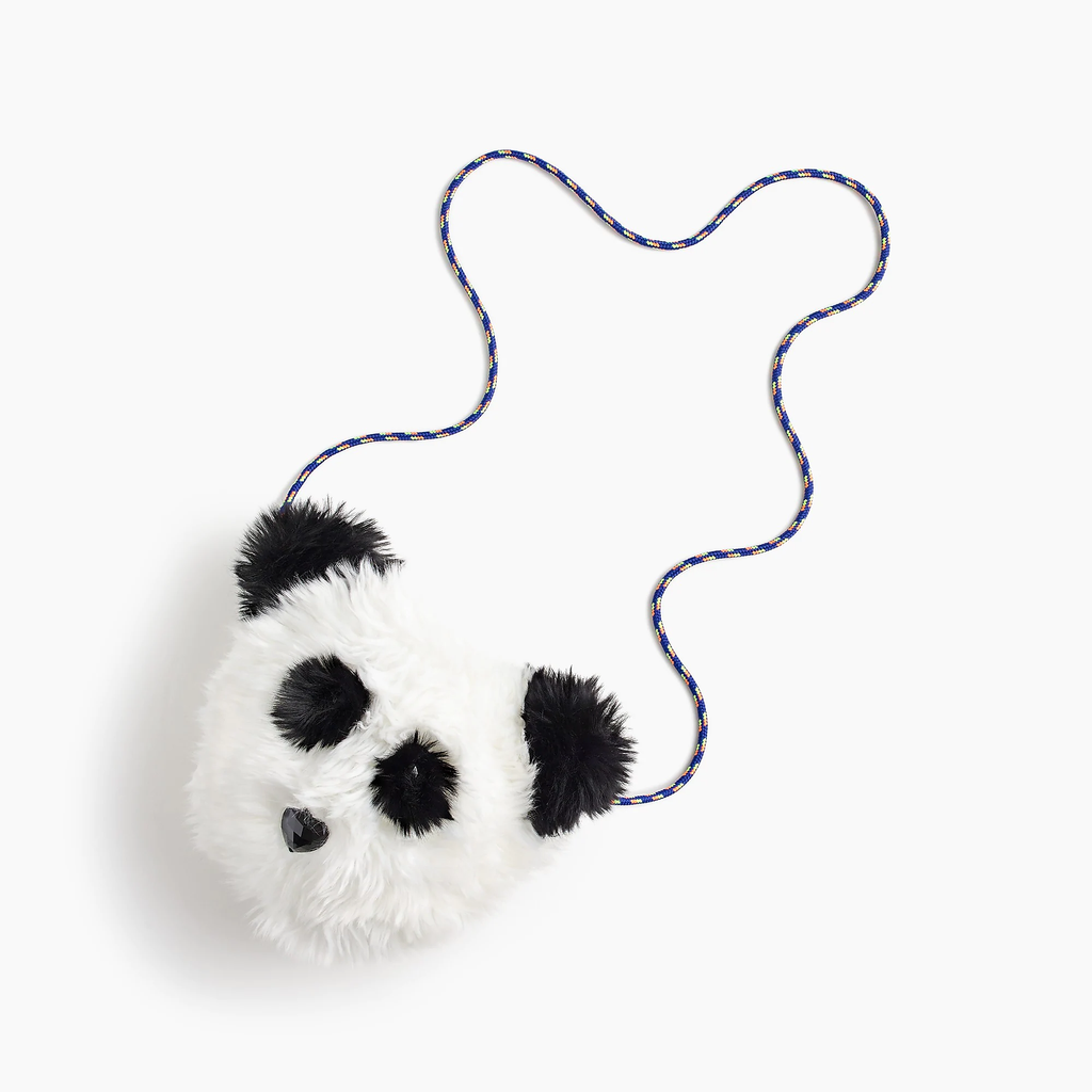 J.crew Girls' faux-fur panda bag