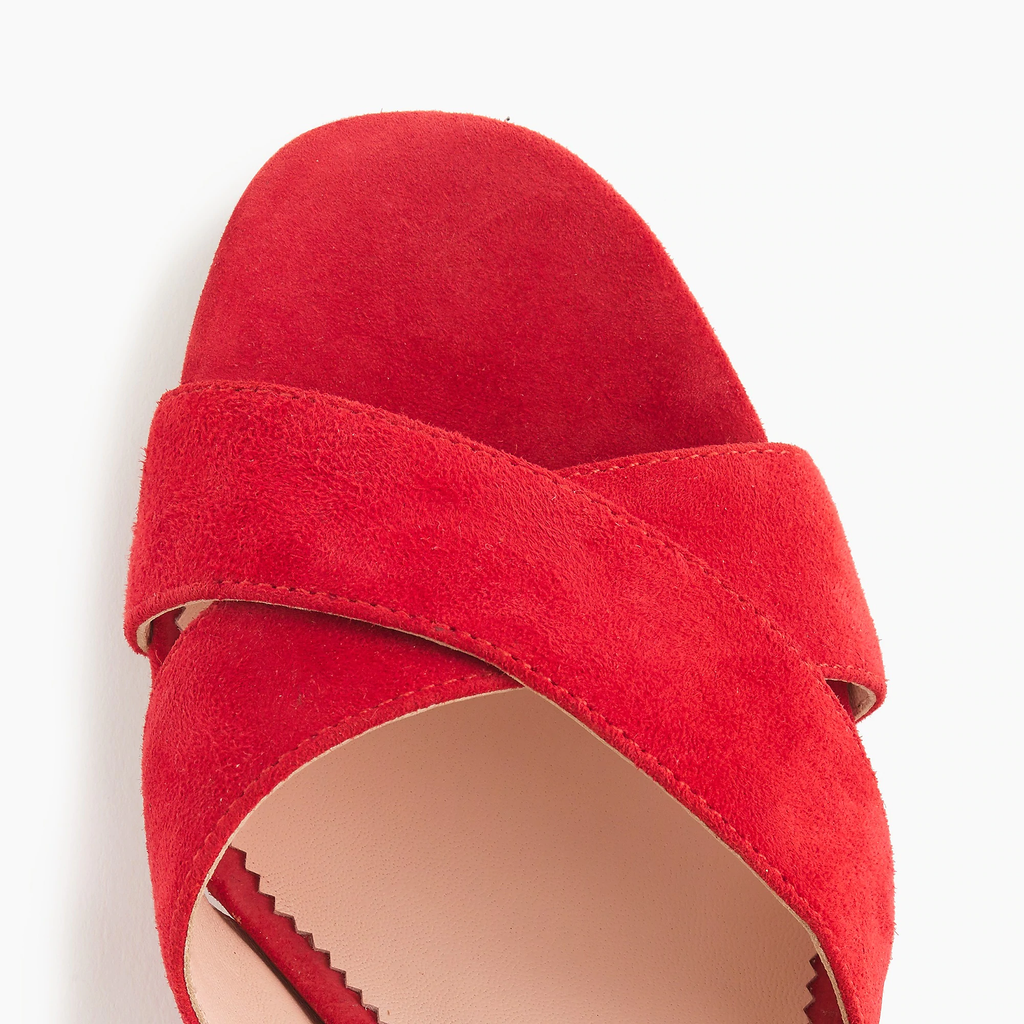 J.crew Red Suede Penny sandals