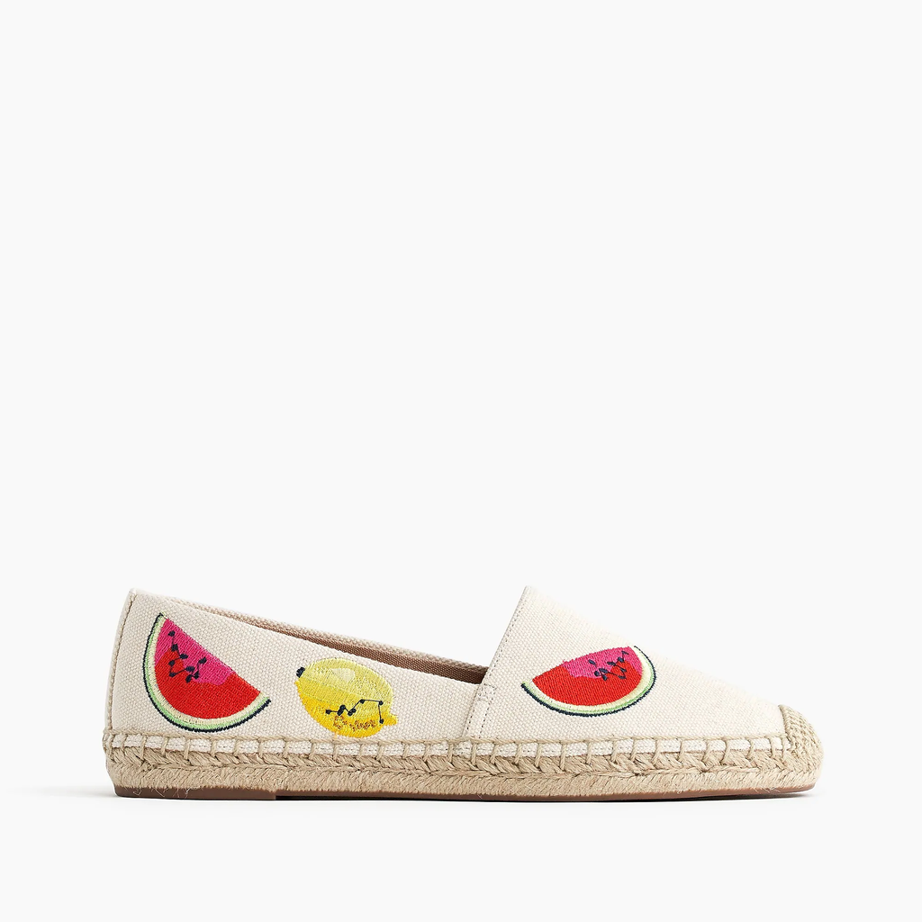 J.crew Canvas espadrilles with embroidered fruits Shoes