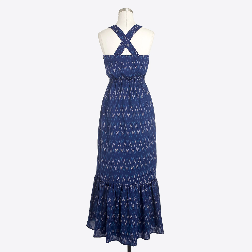 J.crew Ikat prints maxi dress