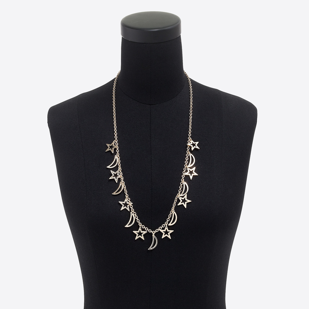 J.crew Stars and Moons Charm Necklace