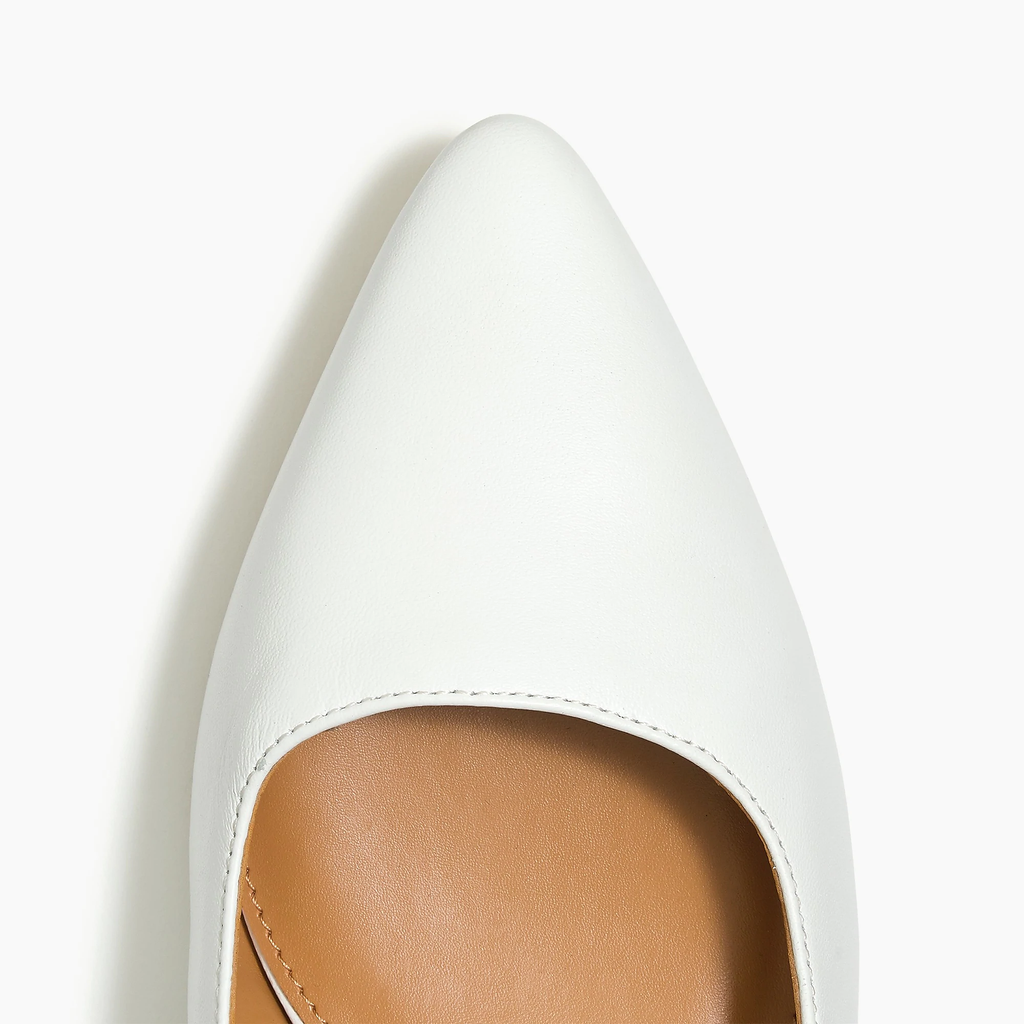 J.crew White Leather slingback block heels sandals