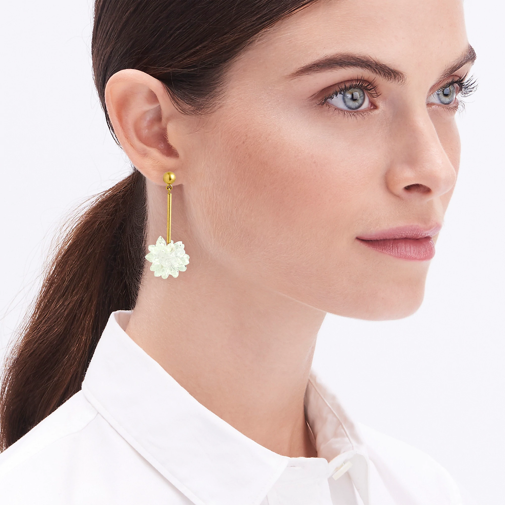 J.Crew Snowdrop statement earrings