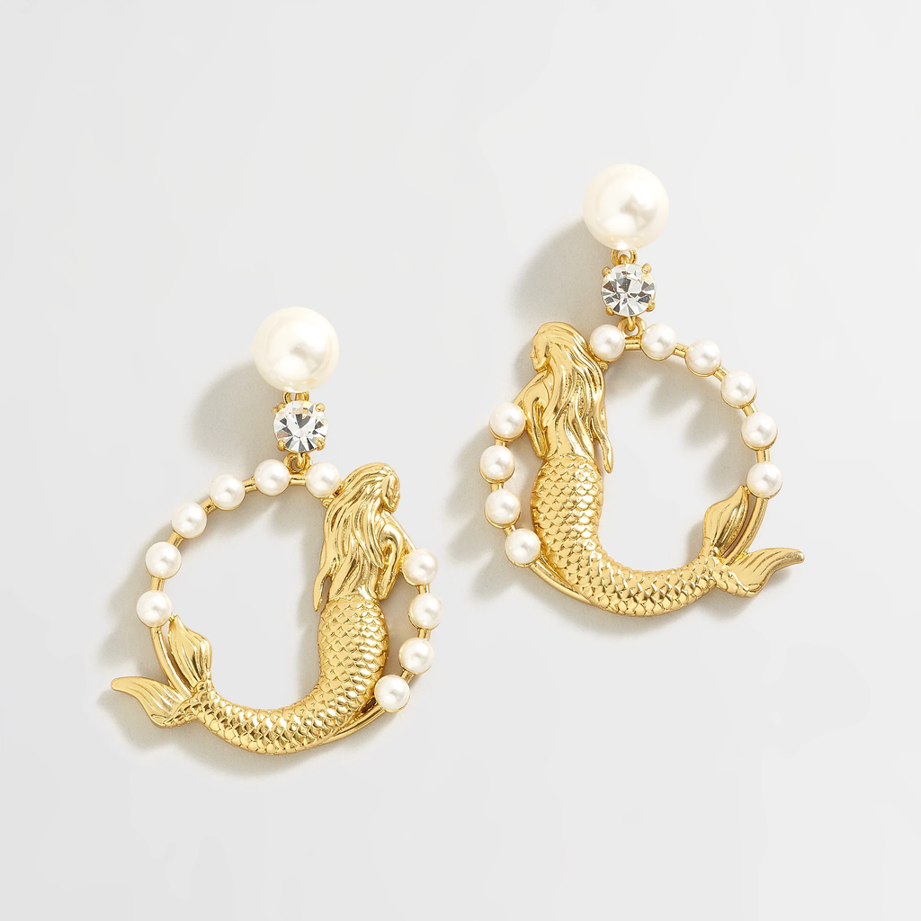 J.crew Pearl mermaid drop earrings