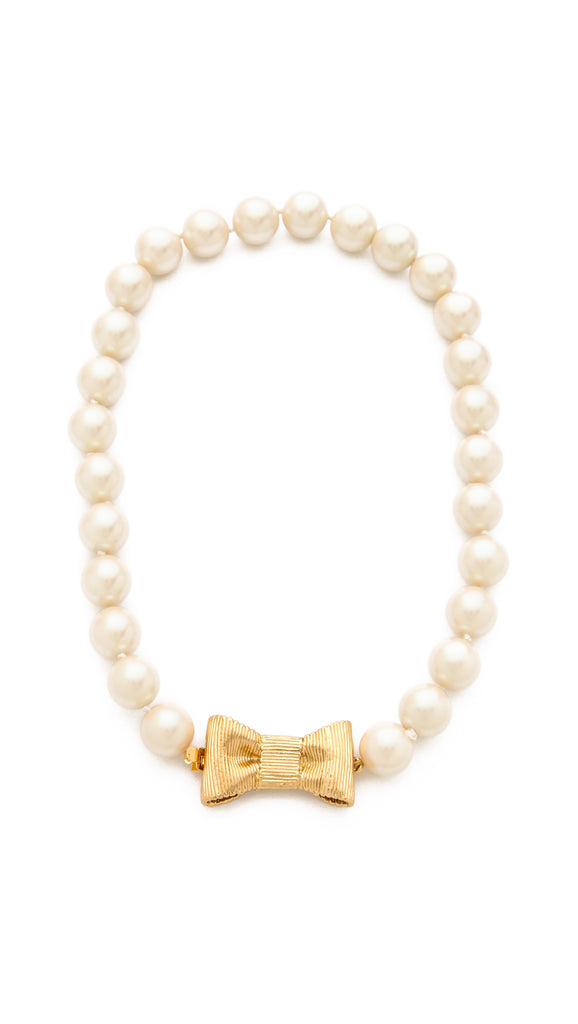 kate spade new york - all wrapped up in pearls short necklace