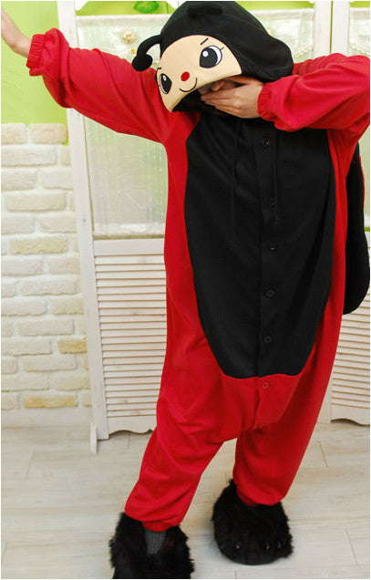 PITaPATs onesie animal jumpsuit costume - long sleeve ladybug