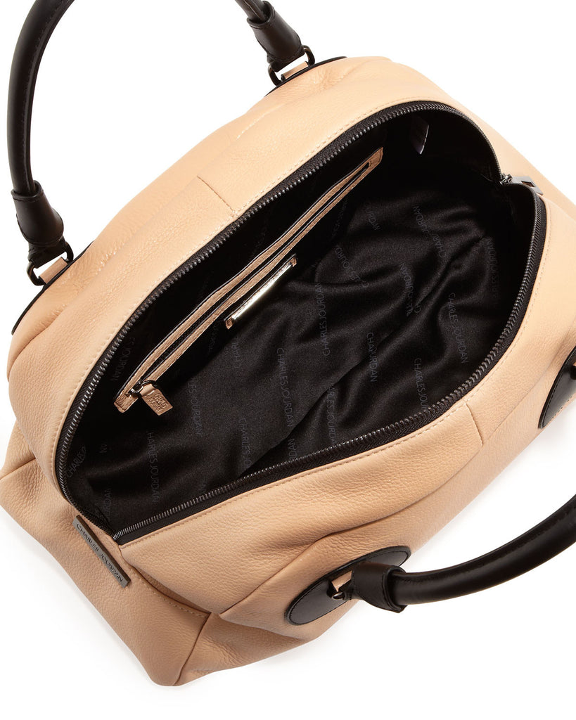 Charles Jourdan Gemma Two-Tone Satchel - PitaPats.com