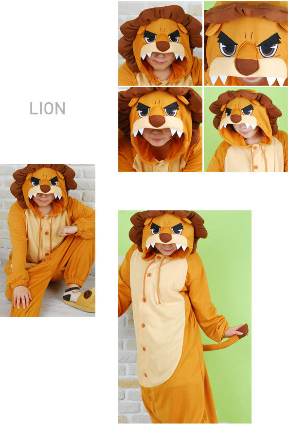 dd96d99c05f9 PITaPATs kids onesie animal jumpsuit costume - long sleeve brown king lion