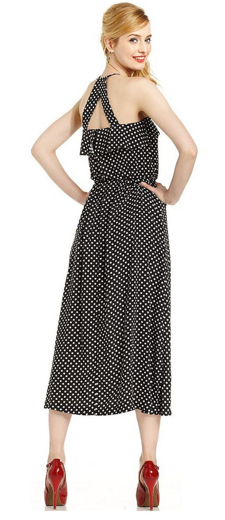 Marilyn Monroe Juniors Dress, Halter Polka-Dot Midi - PitaPats.com