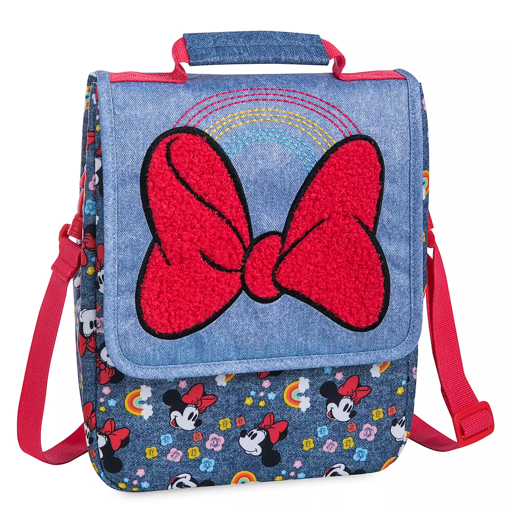 Disney Minnie Mouse Rainbow Lunch Box bag Red Bow