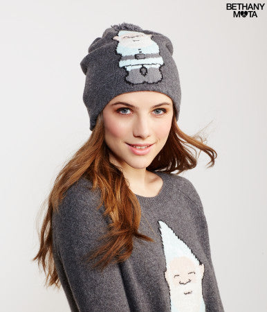 Aeropostale Sequin Gnome Pow Beanie hats - PitaPats.com