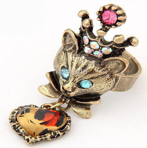 King Crown Fox Bronze Ring - PitaPats.com