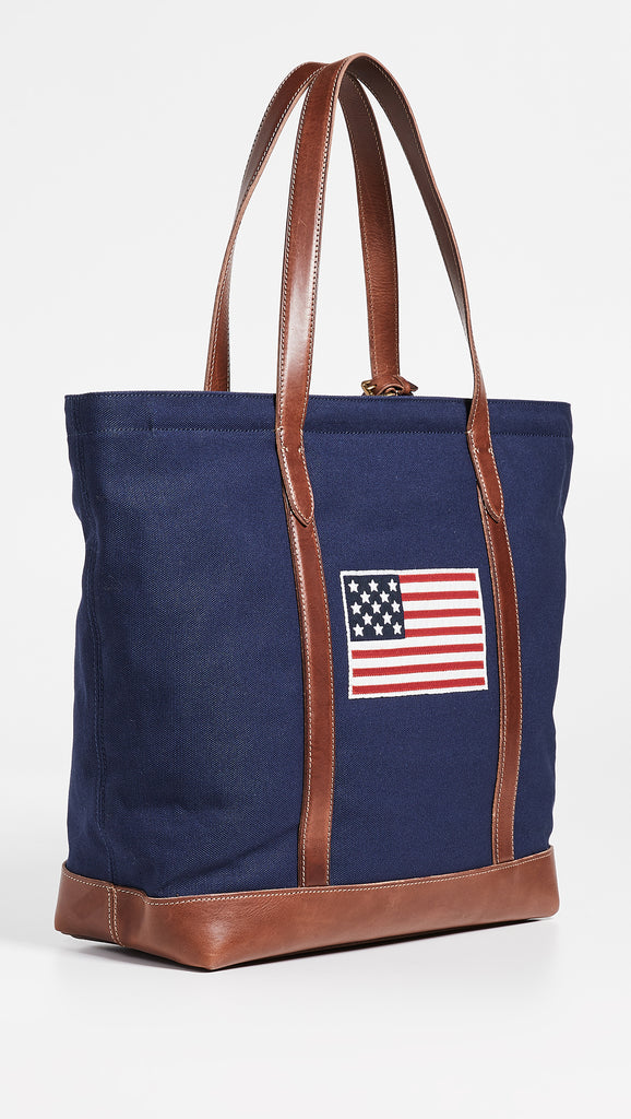 Polo Ralph Lauren American Flag Sweater Tote Bag