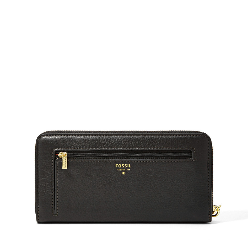 Fossil Sydney Leather Zip Clutch Wallet - PitaPats.com