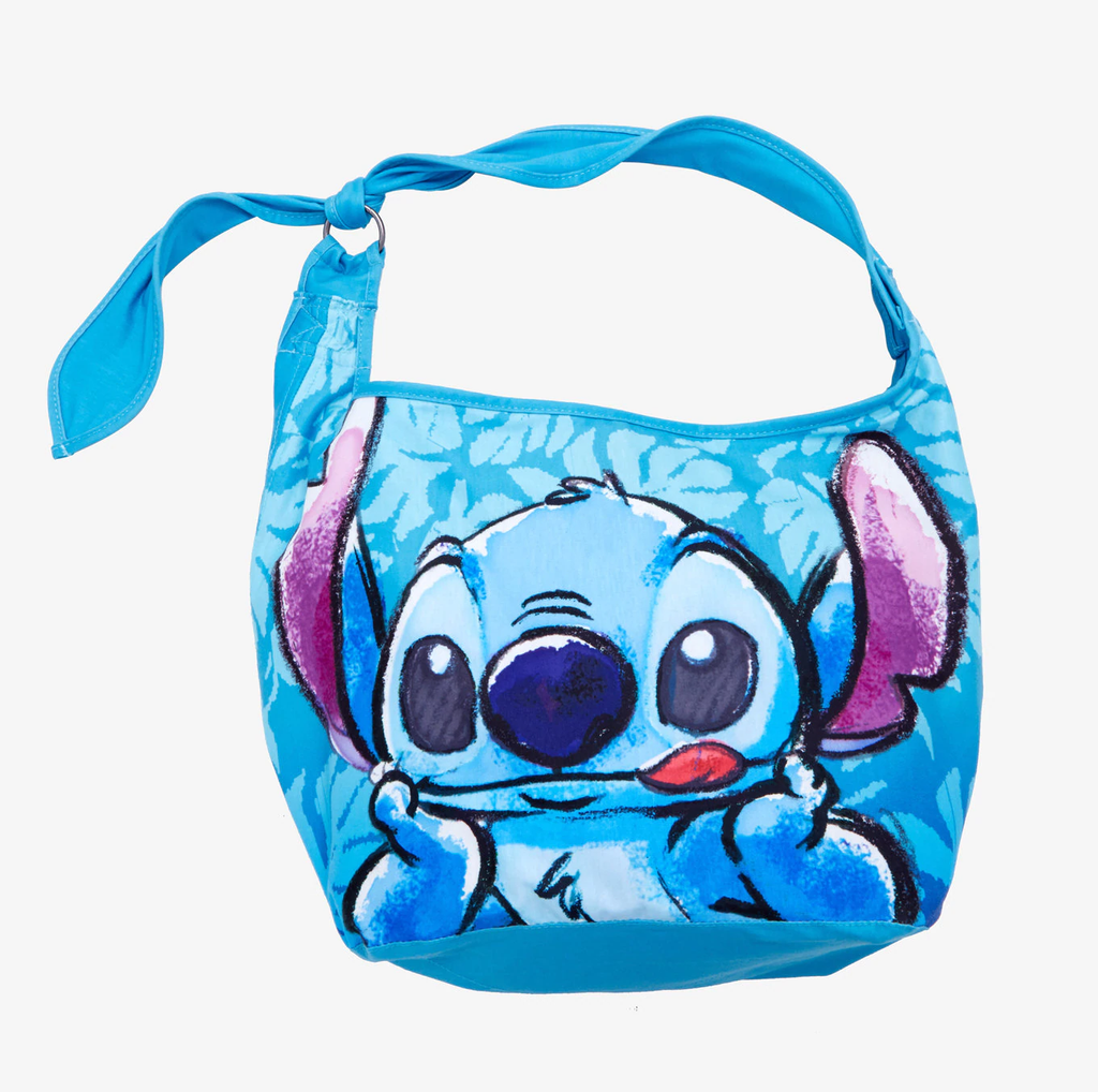 LOUNGEFLY Disney Lilo & Stitch Sketch Hawaiian Hobo Bag