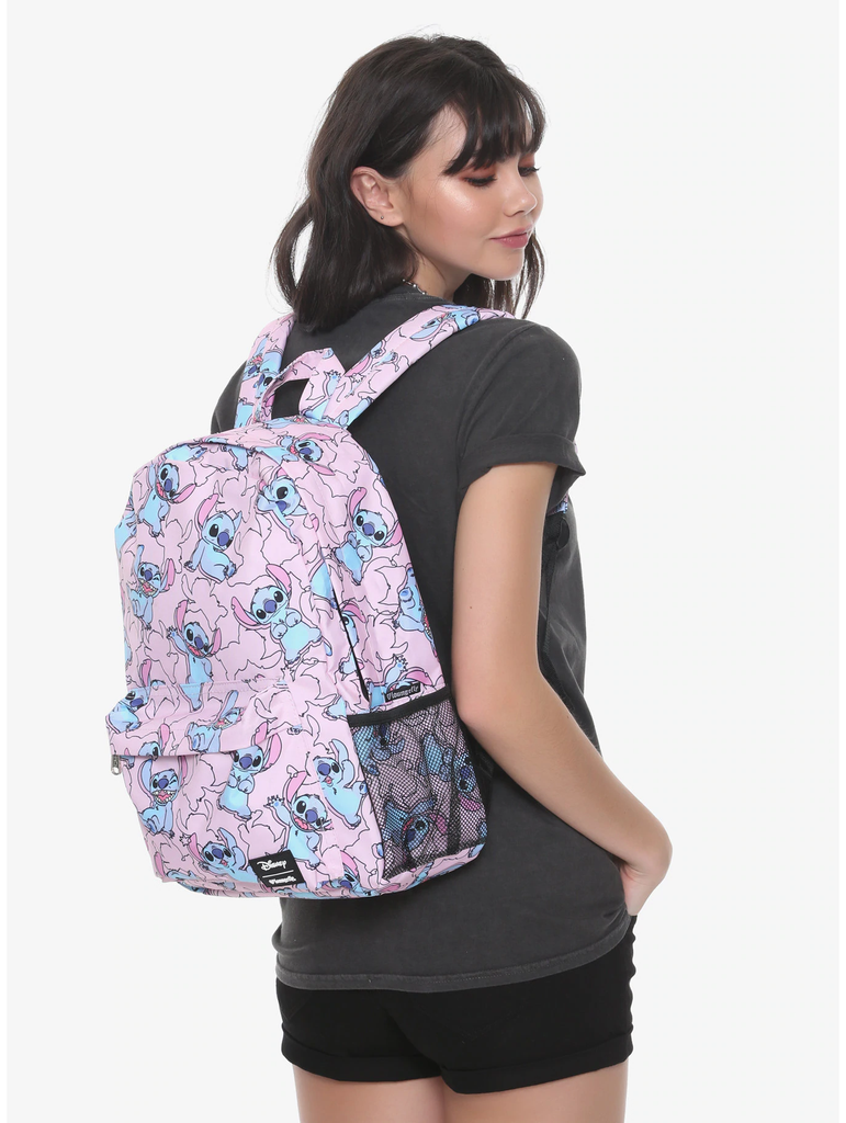 LOUNGEFLY DISNEY LILO & STITCH PINK STITCH BACKPACK