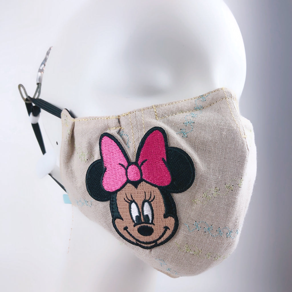 Mask 4 protect Face Mask Linen Disney Minnie Mouse + Filter Pocket