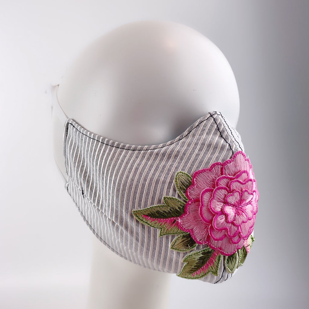 Mask 4 Protect Face Mask Pink Peony Big Flower