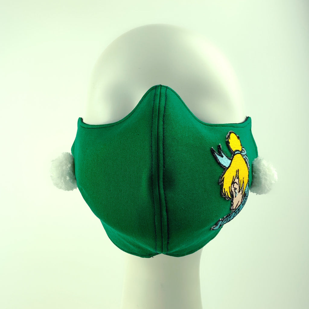 Mask 4 Protect Disney Tinker Bell Green Face Mask