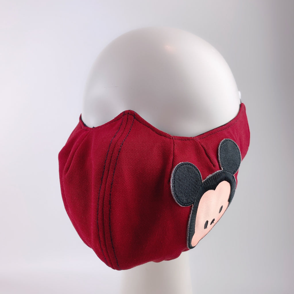 Face Mask 4 Protect Disney Tsum Tsum Mickey Mouse on Red - 3D Mask