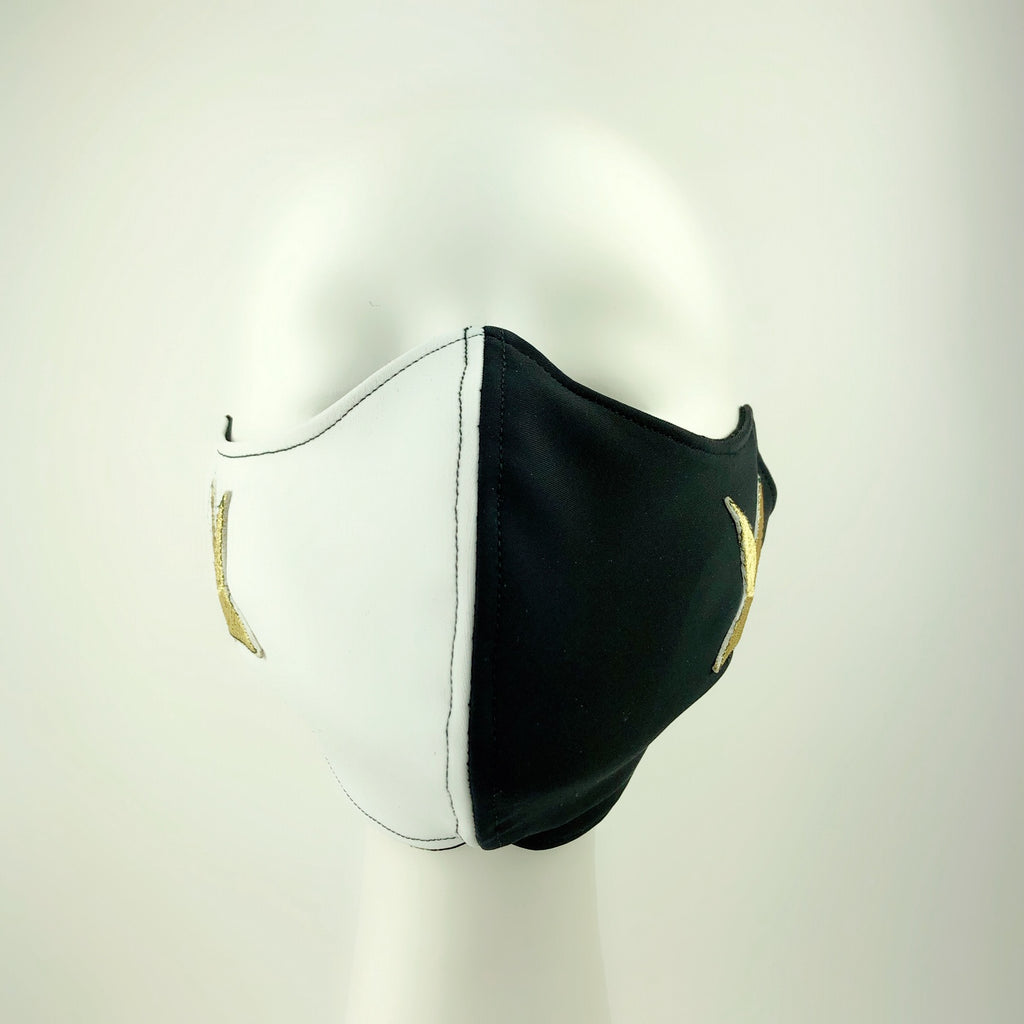 Mask 4 Protect Two Stars Thick Black & White Face Mask