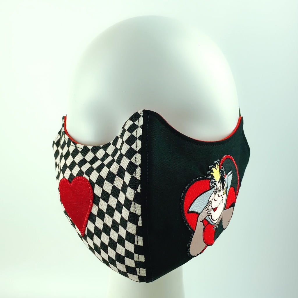 Mask 4 Protect Disney Alice in Wonderland Queen of Hearts Face Mask