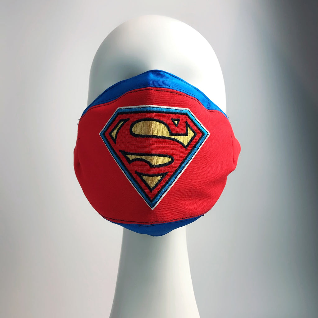 Mask 4 Protect Superman Insignia Face Mask L