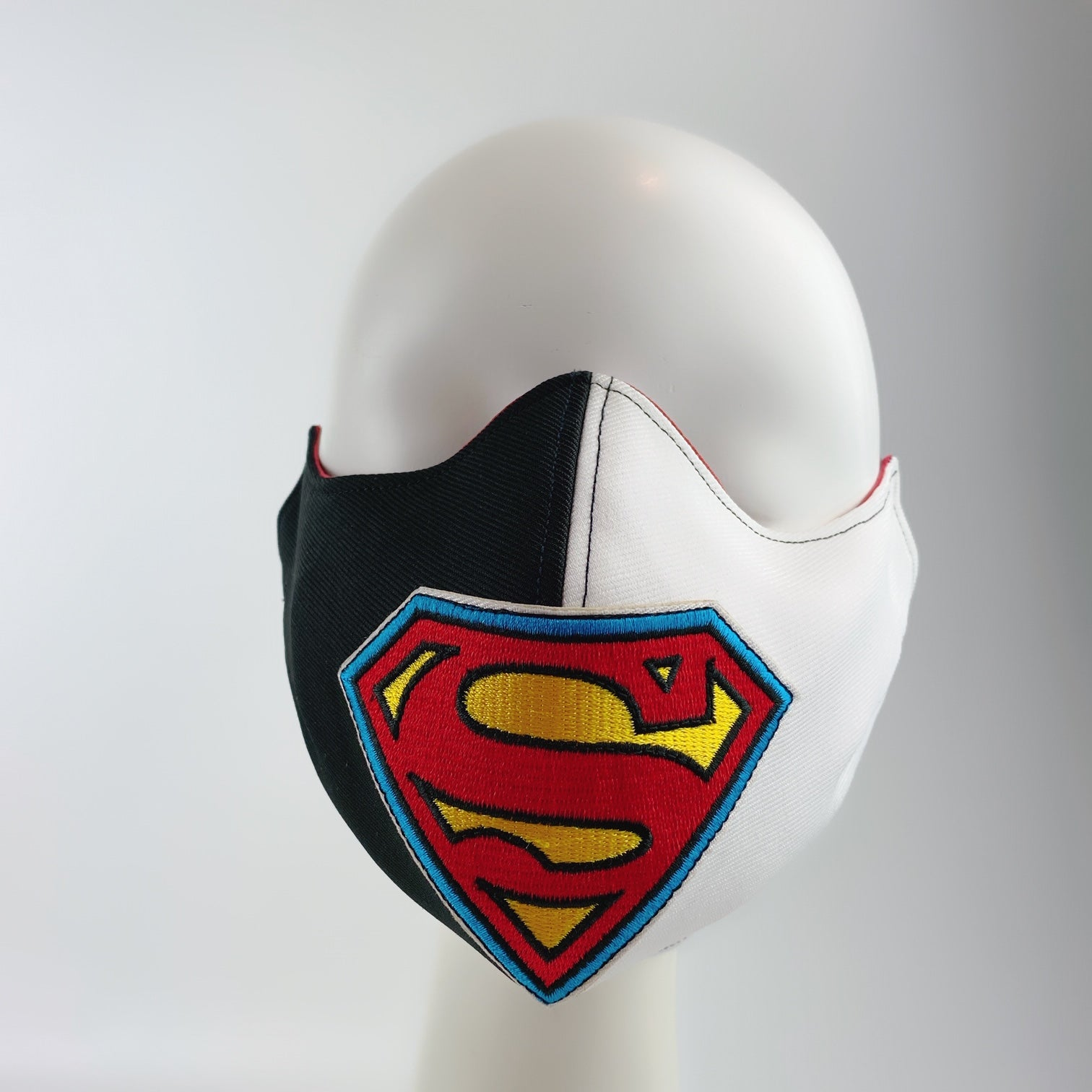Mask 4 Protect Face Mask Superman Insignia Contrast Black White