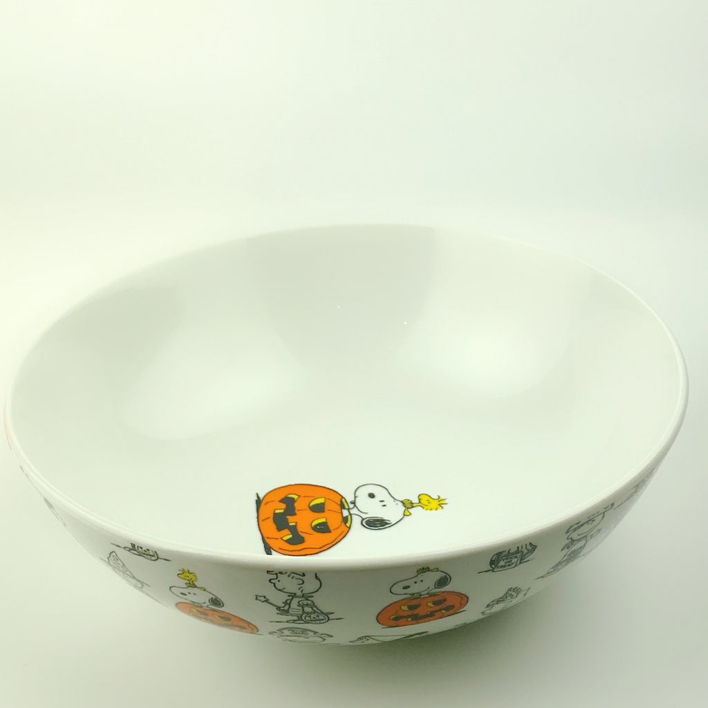 Peanuts Charlie Brown & Friends & Snoopy Great Pumpkin Big Halloween Bowl 10""
