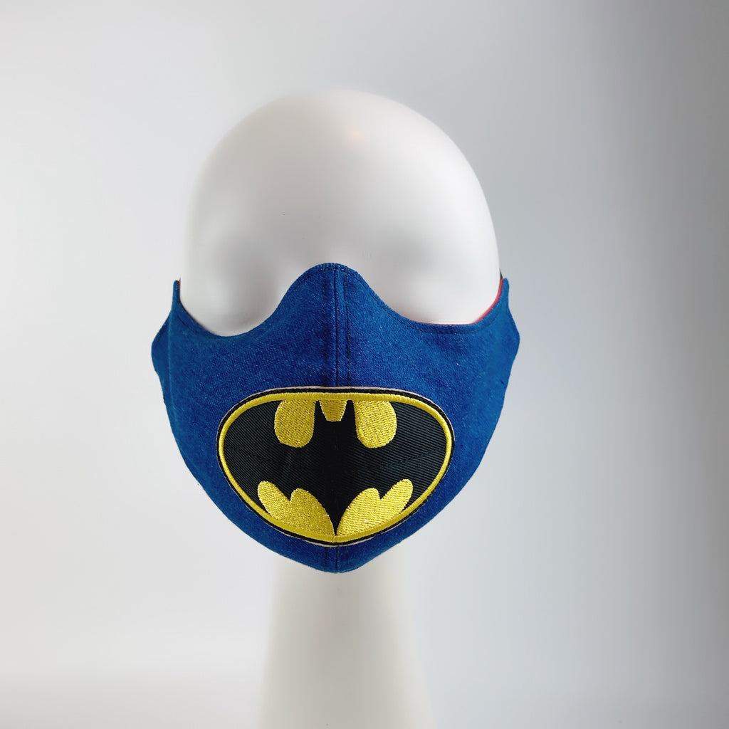 Mask 4 Protect Face Mask Batman Insignia Denim
