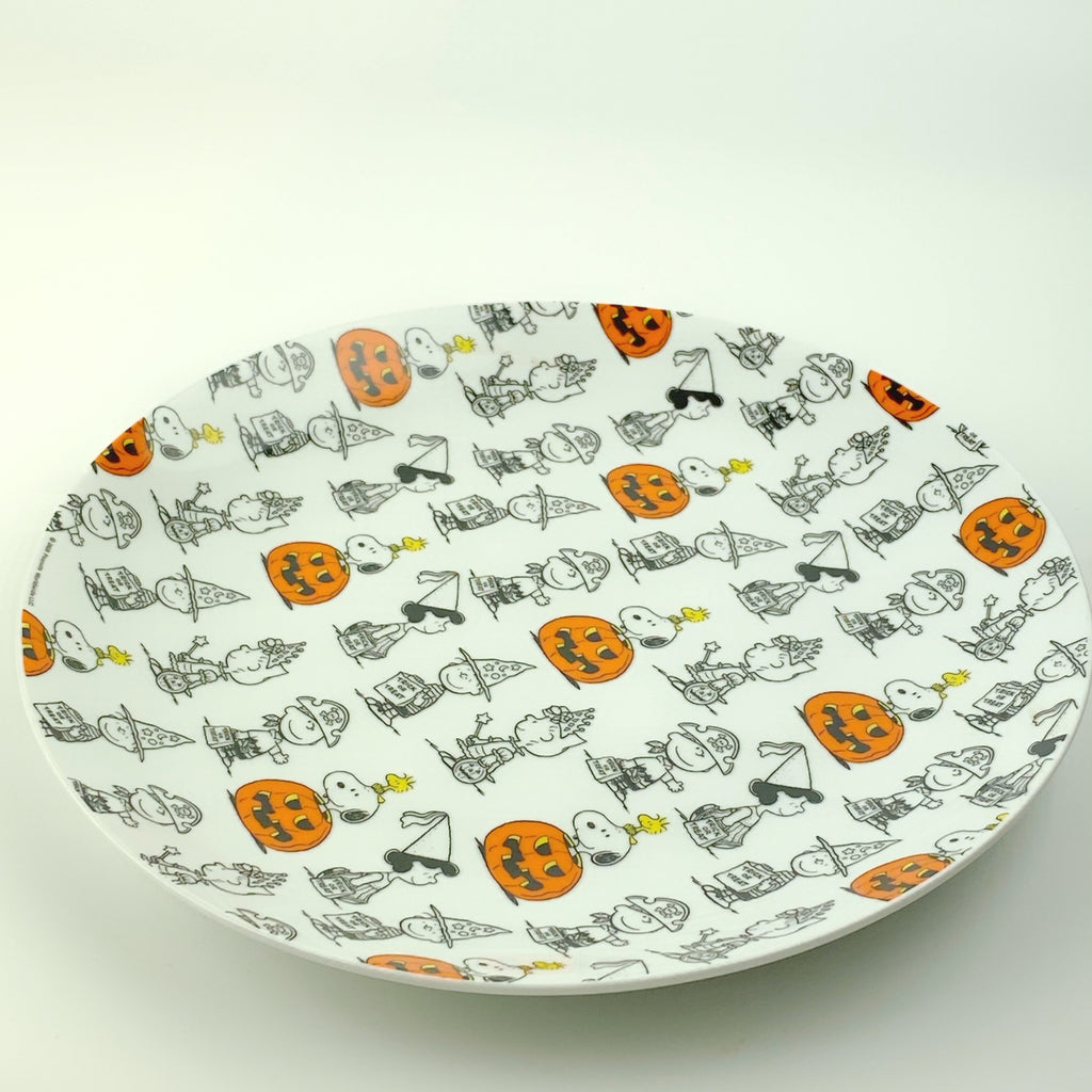 Peanuts Charlie Brown & Friends & Snoopy Great Pumpkin Halloween Plate 10.5""