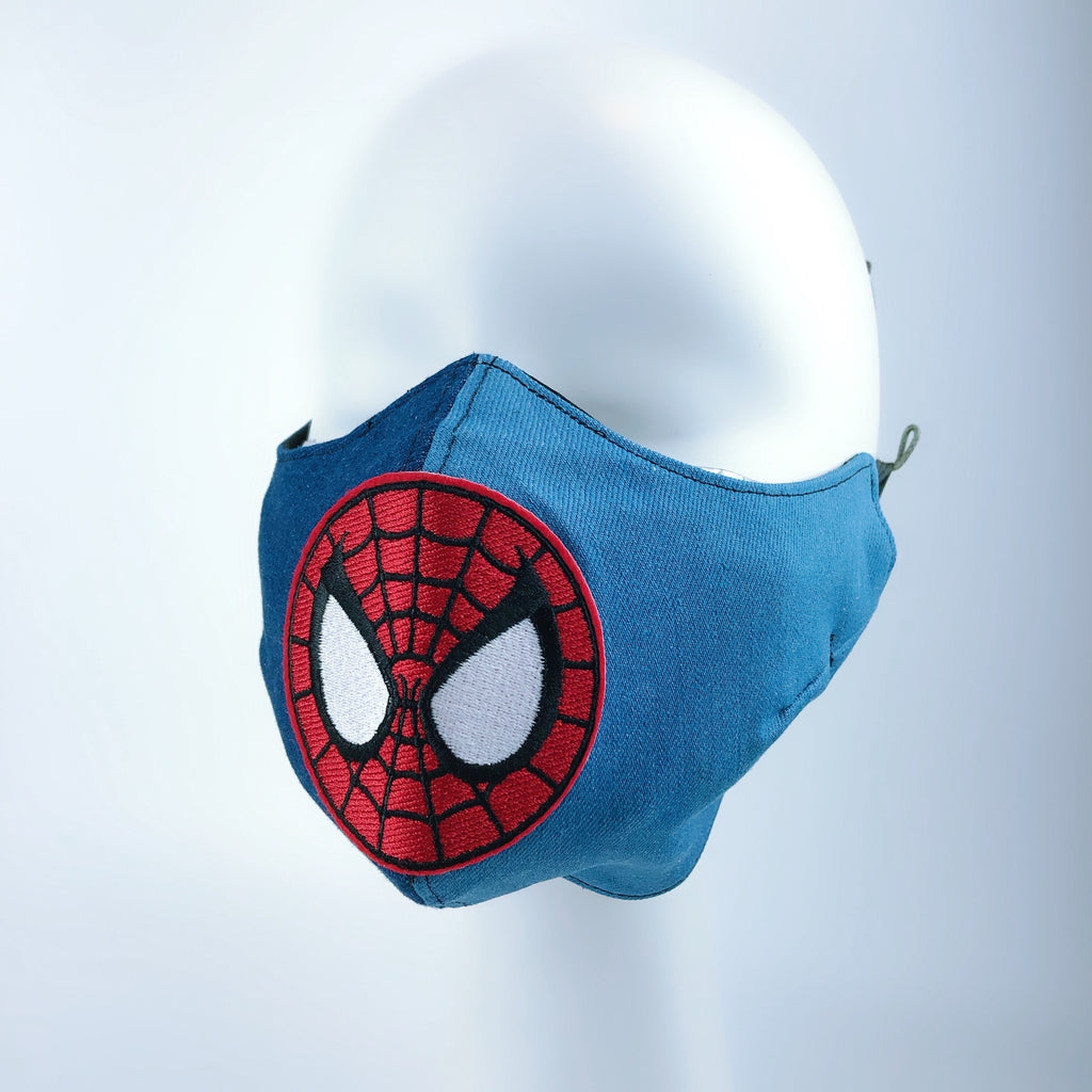 Mask 4 Protect Face Mask Heavy Denim Spiderman