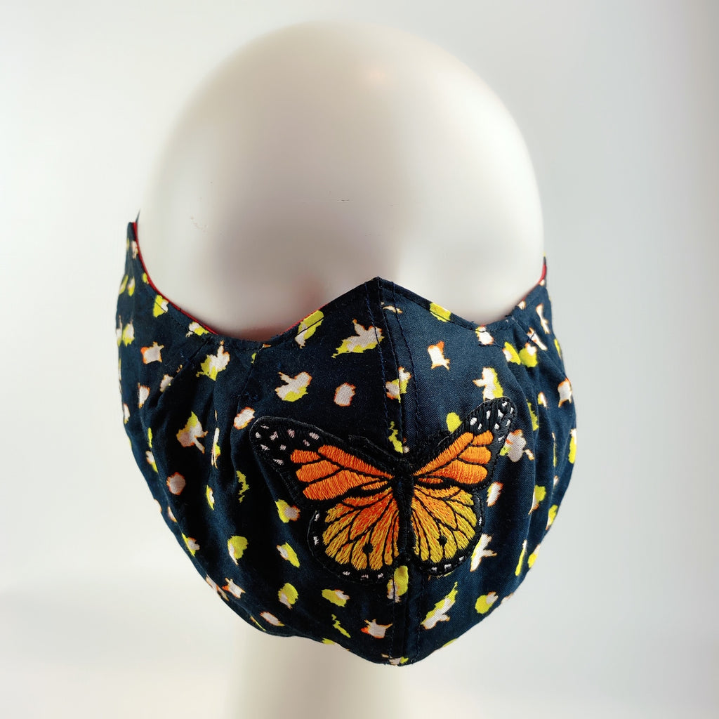 Face Mask 4 Protect Butterfly on Flower - 3D Mask