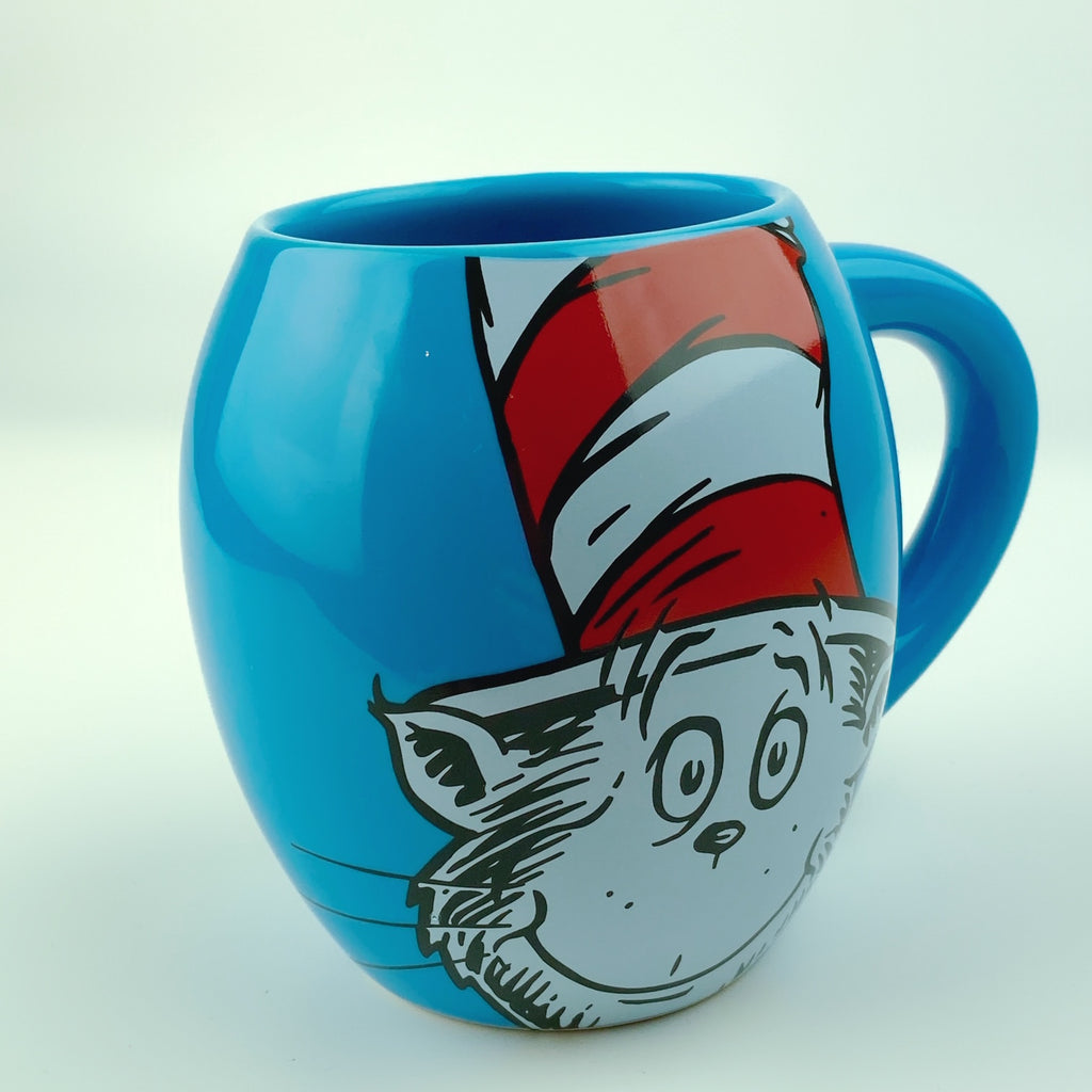 Dr. Seuss Cat In The Hat Oval Ceramic Mug Cup 18oz