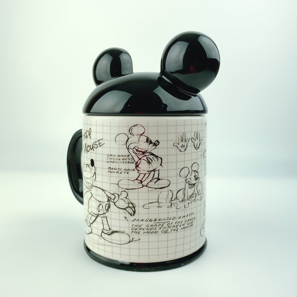 Zrike Disney® Sketch book Mickey Mouse Peek-a-Boo Mug 18 oz. with Lid