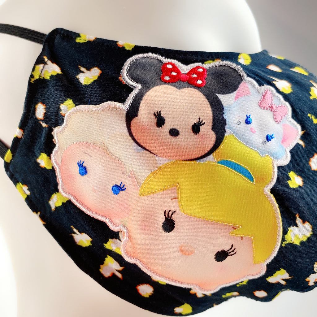 Face Mask 4 Protect Disney Tsum Tsum Friends on Flower
