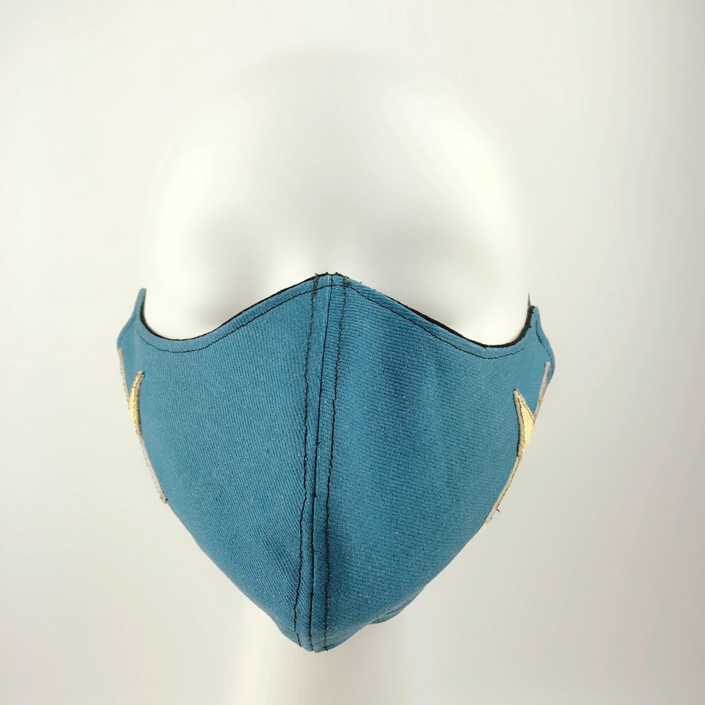 Mask 4 Protect Two Stars Thick Denim  Face Mask