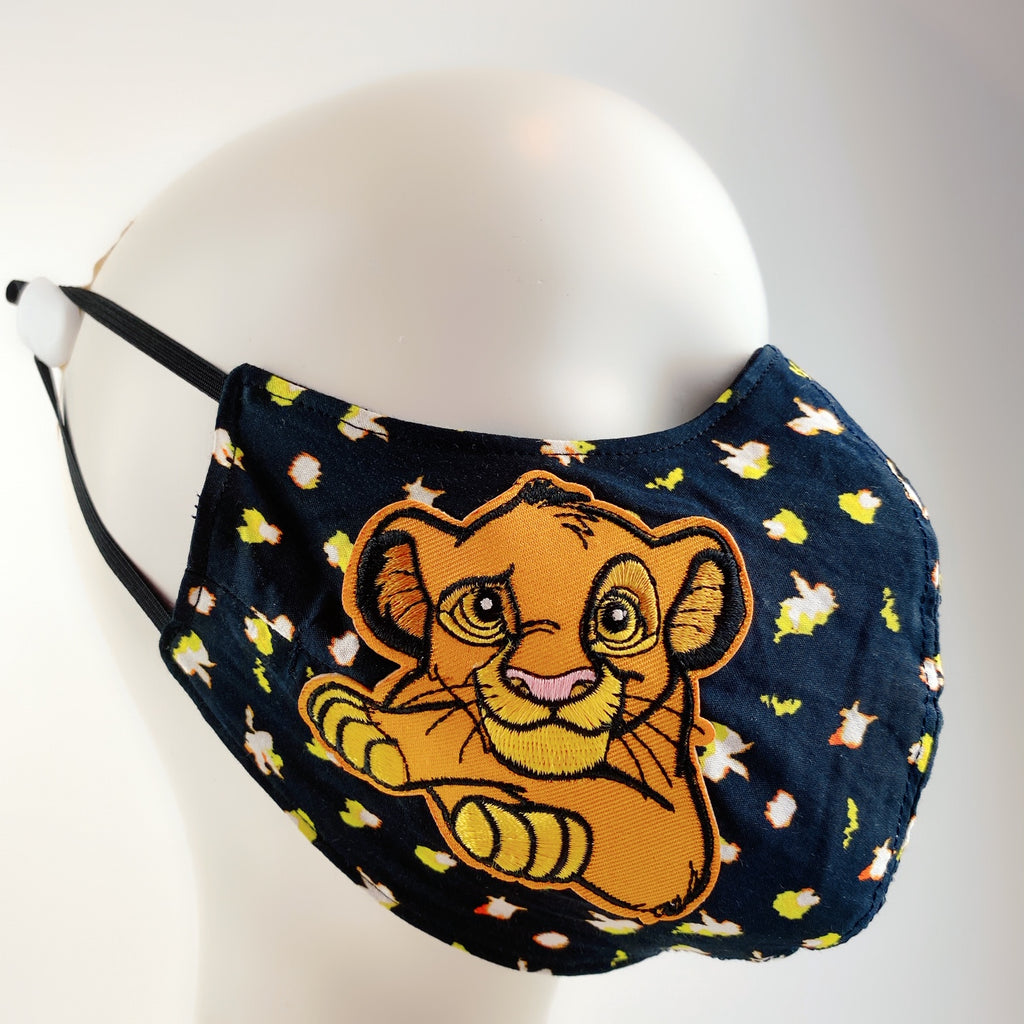 Face Mask 4 Protect Disney Lion King Simba on Flower