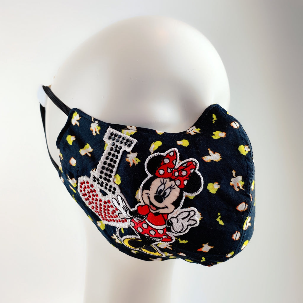 Face Mask 4 Protect Disney Minnie Mouse on Flower